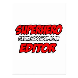Superhero...Editor Postcard