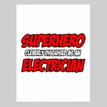 Superhero...Electrician Postcard