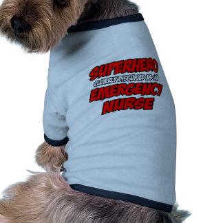 Superhero...Emergency Nurse Pet Tee Shirt