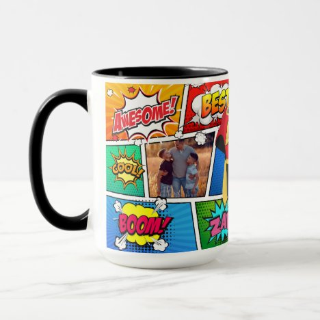 Superhero Father's Day Comic Book Mug