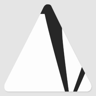 Superhero Fighter Stick Figure Triangle Sticker