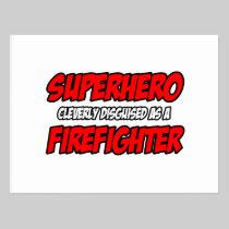 Superhero...Firefighter Postcard
