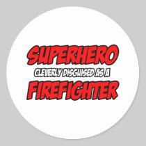 Superhero...Firefighter Stickers