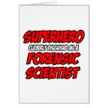 Superhero .. Forensic Scientist Greeting Cards