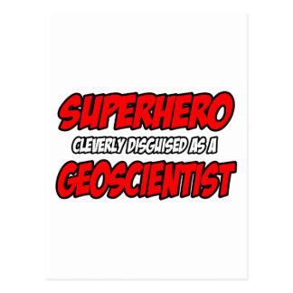 Superhero .. Geoscientist Postcard