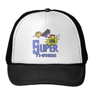 Superhero Girl 3rd Birthday Tshirts and Gifts Mesh Hats