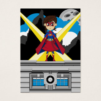 Superhero Girl on Rooftop Business Card