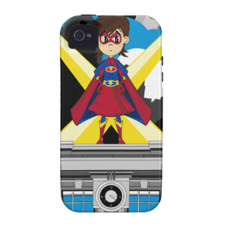 Superhero Girl on Rooftop Case-Mate iPhone 4 Cover