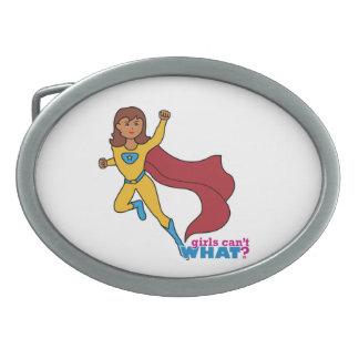 Superhero Girl Oval Belt Buckle