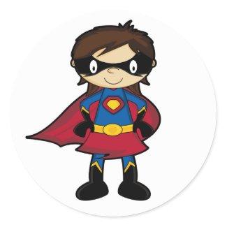 Superhero Girl Sticker sticker