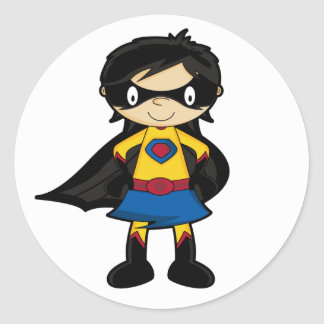 Superhero Girl Sticker