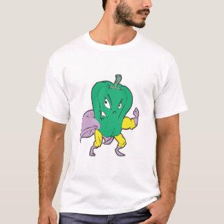 superhero green pepper cartoon character T-Shirt