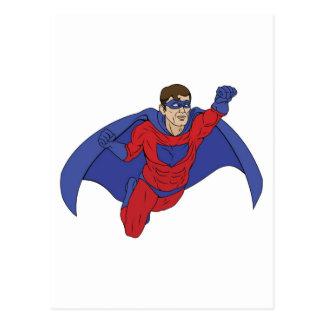 Superhero Illustration Postcards