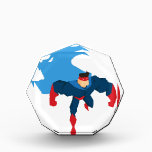 """Superhero in Action Acrylic Award<br><div class=""""desc"""">Superhero in Action. Superhero silhouette in different poses vector</div>"""