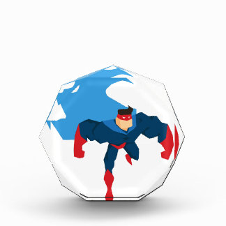 Superhero in Action Acrylic Award
