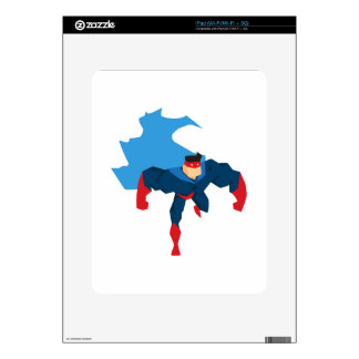 Superhero in Action Decal For The iPad