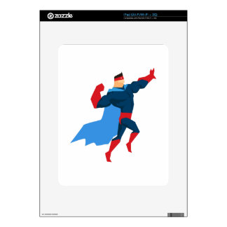 Superhero in Action Decals For The iPad