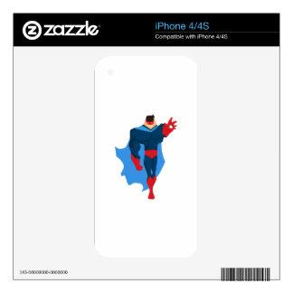 Superhero in Action iPhone 4 Skin