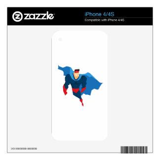 Superhero in Action iPhone 4S Skin