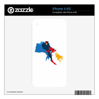 Superhero in Action Skin For iPhone 4