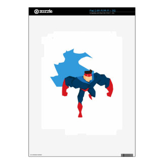 Superhero in Action Skin For The iPad 2
