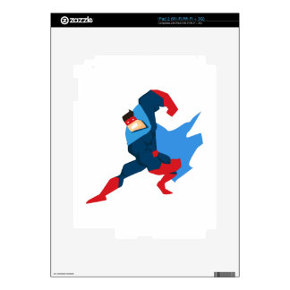 Superhero in Action Skins For iPad 2