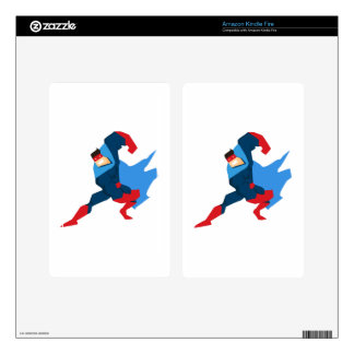 Superhero in Action Skins For Kindle Fire