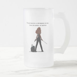 Superhero in Hell Frosted Mug