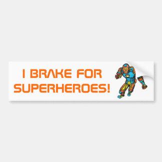 SUPERHERO IN ROBOT ARMOR BUMPER STICKERS