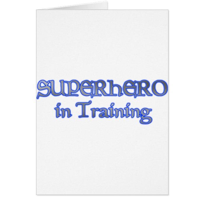 SUPERHERO in Training Card