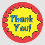 Superhero Inspired Thank you Stickers