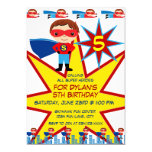 "Superhero Kids Boys Birthday Party Invitations 5"" X 7"" Invitation Card"
