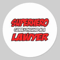 Superhero...Lawyer Stickers