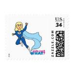 Superhero - Light/Blonde Postage Stamps