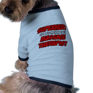 Superhero Massage Therapist Doggie T-shirt
