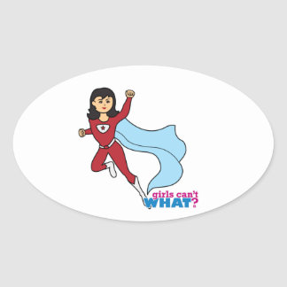 Superhero - Medium Oval Sticker