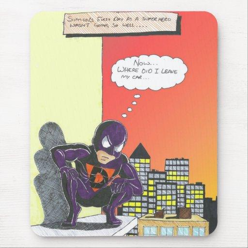 Superhero mousemat mouse pad