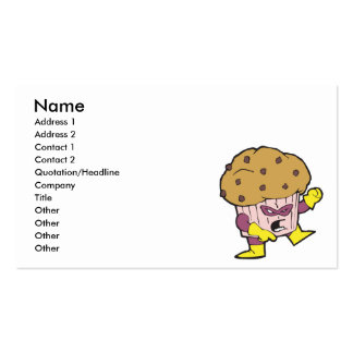 superhero muffin man character Double-Sided standard business cards (Pack of 100)