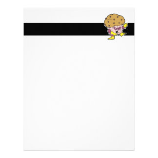 superhero muffin man character personalized letterhead