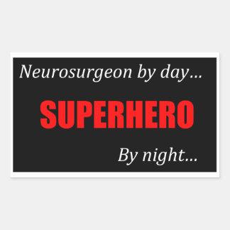 Superhero Neurosurgeon Rectangular Sticker