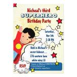 Superhero Party Birthday Invitation