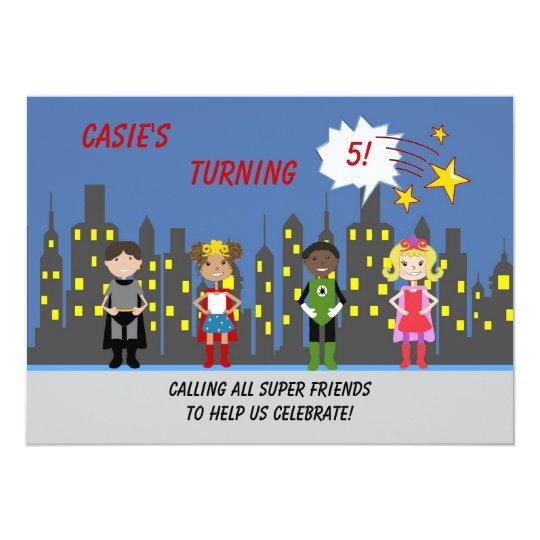 Superhero Party Invitations