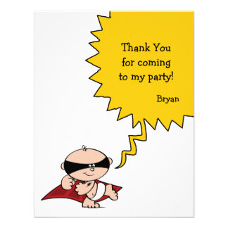 Superhero Party Thank You Card Invitations