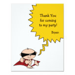 Superhero Party Thank You Card Invitations