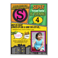 Superhero Pink Girls Invitation Super Hero Invite Birthday Invitations