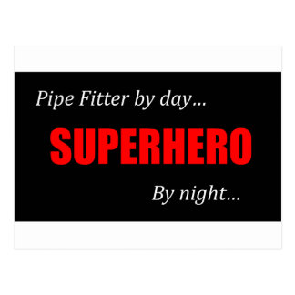 Superhero Pipe Fitter Postcard