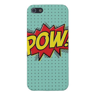 Superhero Pow Burst iPhone Case- Blue Polka Dots Cover For iPhone SE/5/5s