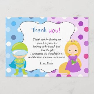 Superhero Princess Thank You Note Card