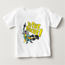 Superhero Raccoon To The Rescue Baby T-Shirt