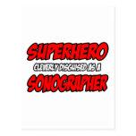Superhero...Sonographer Postcard